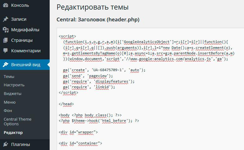 Установка-Google-Analytics-на-Wordpress